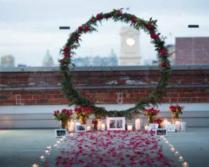 circular, arbor, round, arch, wedding, hire, event