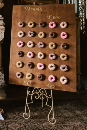 vintage, rustic, boho, melbourne, ceremony, wedding hire,event, prop, donut wall, donuts
