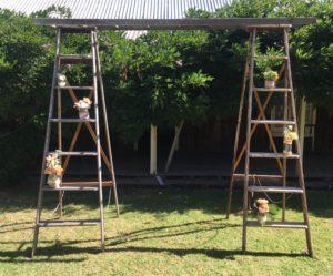 vintage, rustic, boho, melbourne, arbor, ladder, ceremony, wedding hire,event, prop