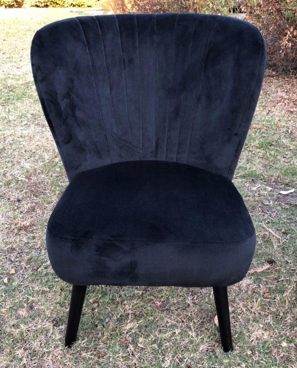 antique lounge, armchair, vintage, rustic, boho, melbourne, ceremony, wedding hire,event, prop, black, velvet