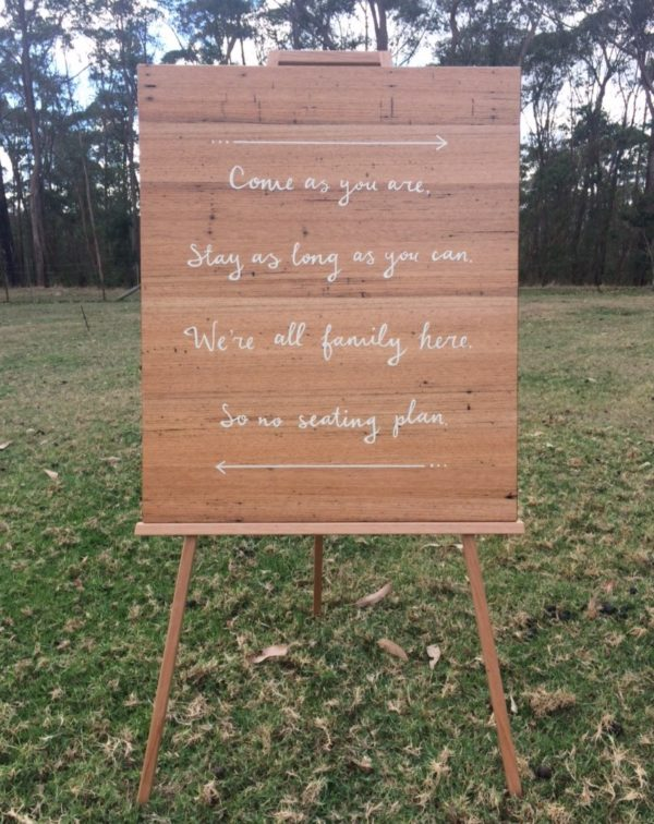 timber, signage, wedding, hire, props, event, melbourne