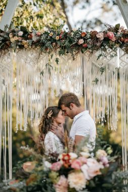 macrame, arbor, vintage, rustic, boho, melbourne, ceremony, wedding hire,event, prop,