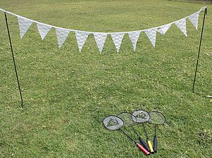 lawn games, vintage, rustic, boho, melbourne, ceremony, wedding hire,event, prop, badminton