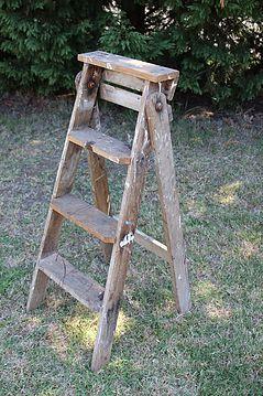 ladder, vintage, rustic, boho, melbourne, ceremony, wedding hire,event, prop