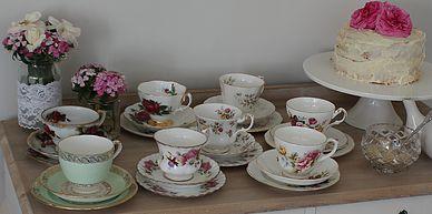 vintage, rustic, boho, melbourne, ceremony, wedding hire,event, prop, tea cup, saucer, high tea