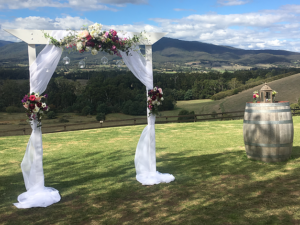 vintage, rustic, boho, melbourne, ceremony, wedding hire,event, prop, arbor, arch,artificial florals