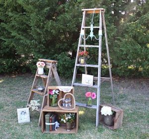 ladder, vintage, rustic, boho, melbourne, ceremony, wedding hire,event, prop