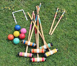 lawn games, vintage, rustic, boho, melbourne, ceremony, wedding hire,event, prop, croquet