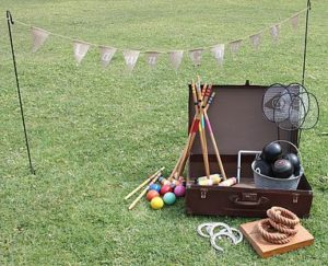lawn games, vintage, rustic, boho, melbourne, ceremony, wedding hire,event, prop, croquet, bowls, badminton, quoits,
