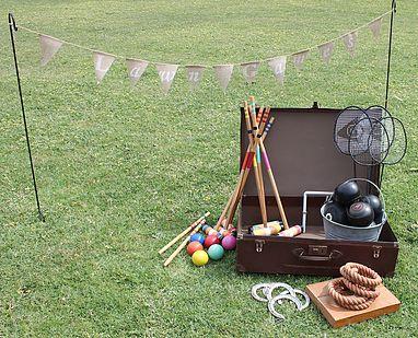 lawn games, vintage, rustic, boho, melbourne, ceremony, wedding hire,event, prop, croquet, bowls, badminton, quoits,