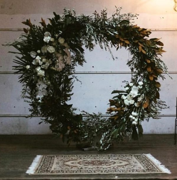 vintage, rustic, boho, melbourne, arbor, ceremony, wedding hire,event, prop, circle arbor, wedding flowers