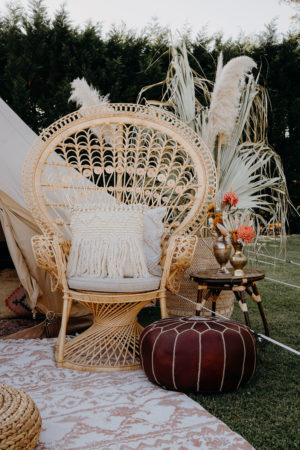 peacock chair, boho, melbourne, wedding, wedding hire, event hire