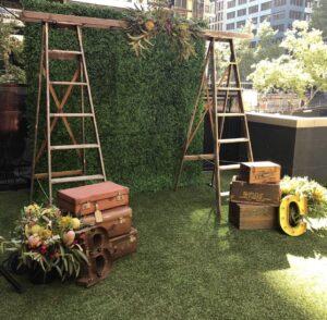 Ladder, rustic, arbor, wedding, event hire, ceremony, arbor