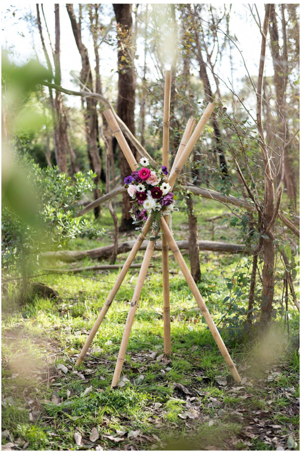 vintage, rustic, boho, melbourne, arbor, bamboo, teepee, beach, ceremony, wedding hire,event, prop