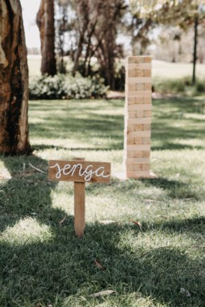 lawn games, vintage, rustic, boho, melbourne, ceremony, wedding hire,event, prop, jenga