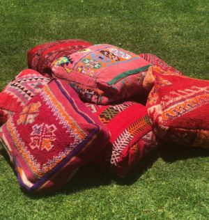 boho, ottoman, picnic, ceremony, wedding hire, melbourne, prop,moroccan, floor cushion, glamping