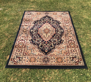persian rug, vintage, boho, rustic, event hire, wedding hire, prop hire, melbourne, moroccan, tribal, navy
