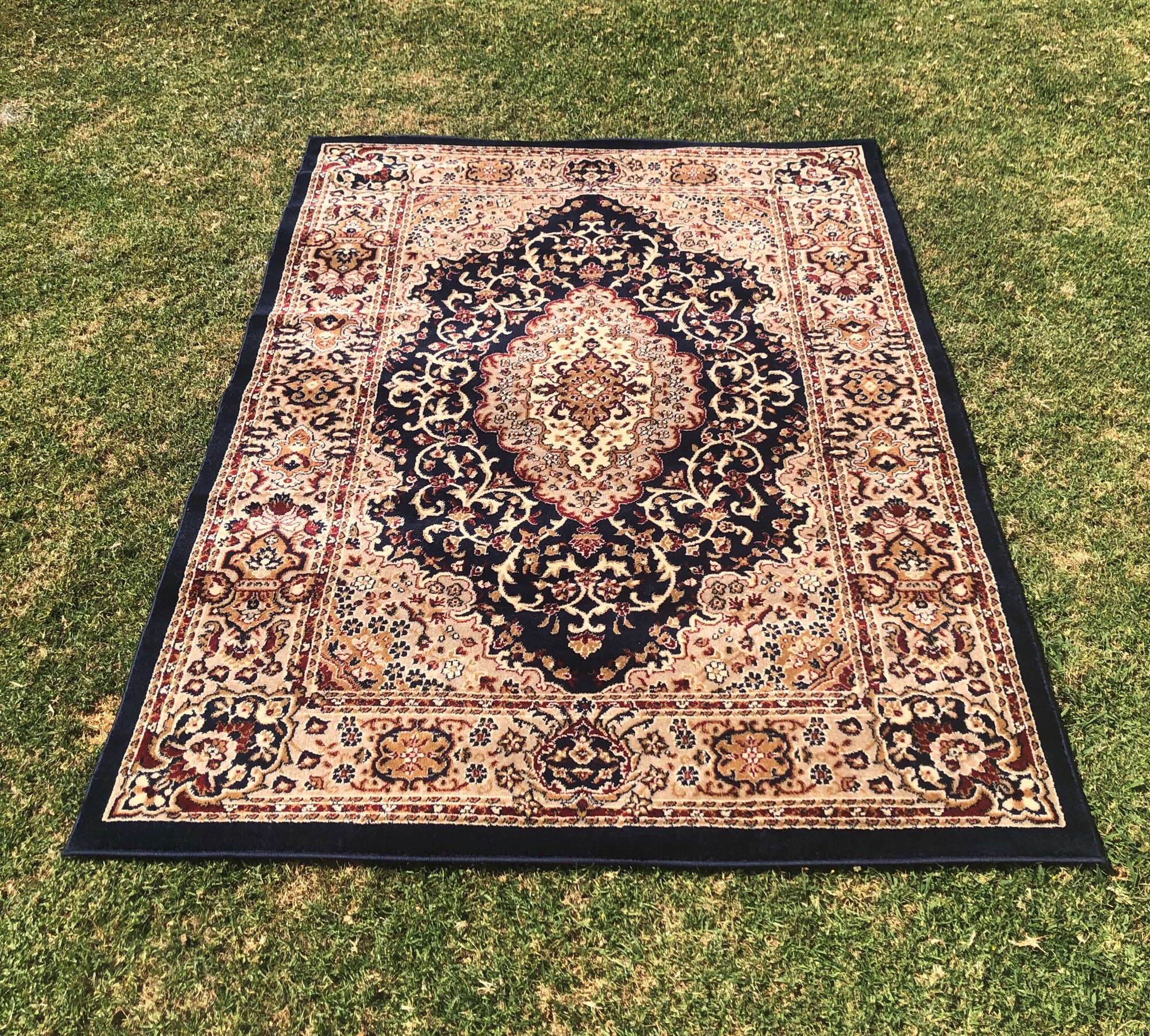 Navy Style Persian Rug - A Day To Remember Event Hire