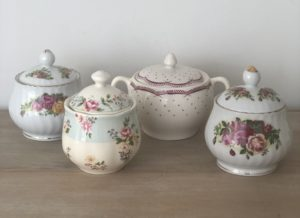 teapot, teacup, sugar bowl, crockery, high tea, vintage, wedding, party, hens, event, prop hire, decoration