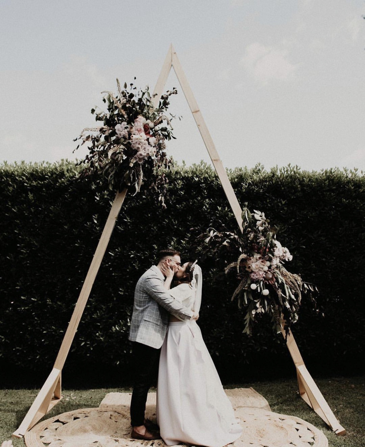 Rustic Wedding Arbors: Timber Triangular Arbor - A Day To