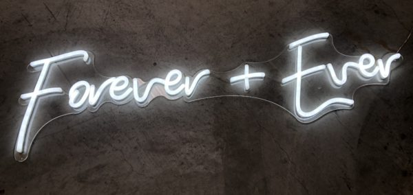 forever and ever, neon sign, pink, lets party, sign, vintage, boho, rustic, event hire, wedding hire, prop hire, melbourne