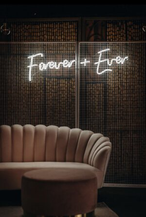 wedding, melbourne, event hire, arbor, vintage, boho, mesh screen, backdrop, neon sign