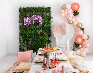neon, acrylic sign, balloon garland,kids party, picnic, birthday, luxe, event hire, prop hire, melbourne, hens, havana, cococabana, tropical, glamping,