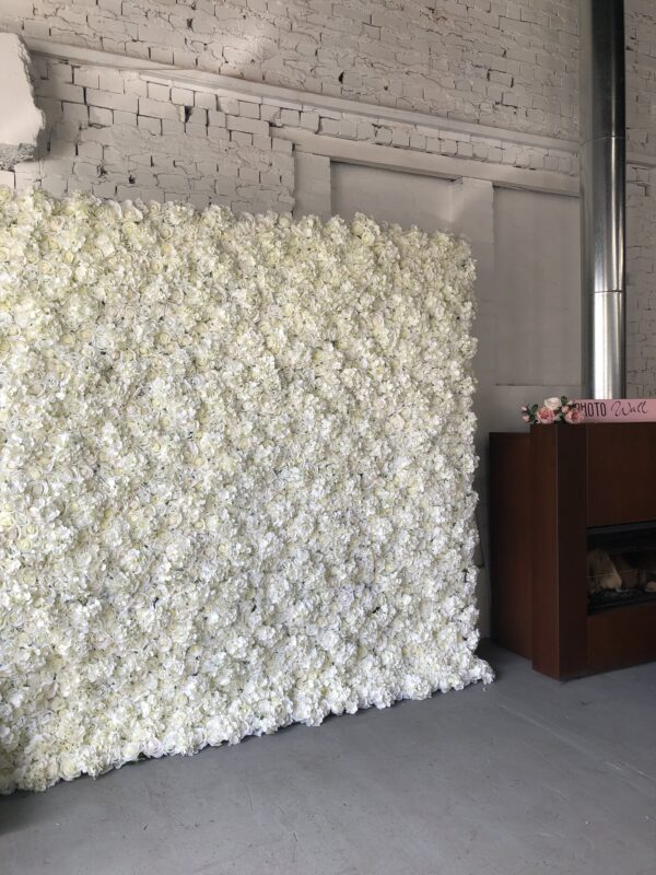 white flower wall, event hire, melbourne, backdrop, hens party, baby shower, melbourne, wedding hire