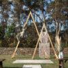 Arbor, boho, triangular arbor, wedding, ceremony, Melbourne, event, hire