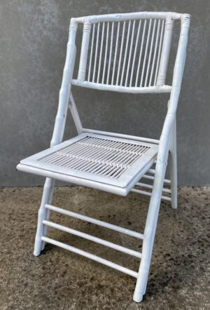 bamboo folding chair, white, event hire, wedding, ceremony, chair, melbourne, hire, prop hire, wedding, boho
